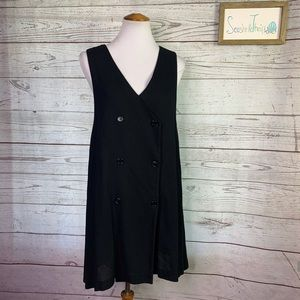 Vintage dkny 90's double breasted vest dress s